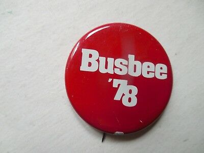 Georgia Pin Back Governor Local Campaign Button George Busbee Political Badge