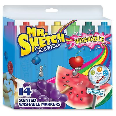 Mr. Sketch Scented Washable Markers - Chisel Marker Point Style - (1924061)