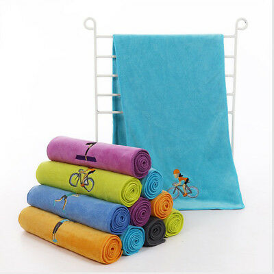 Polyester Quick Drying Sports Gym Travel Towel with Exquisite Embroidery