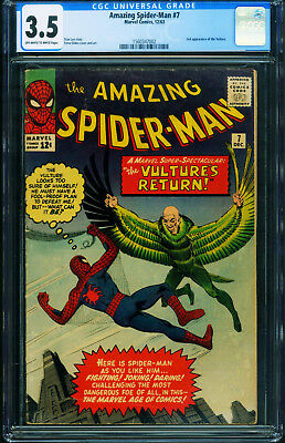 Amazing Spider-Man #7 CGC 3.5 VULTURE 1963 Marvel Silver Age 1560347002