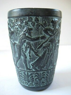 Vintage Museum Replica Ancient Greece Rome Terracotta Relief Beaker C. 1960-70's