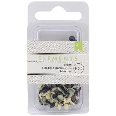 American Crafts Elements Brads - Choice Of Size/Colour