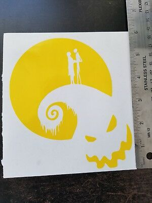 Nightmare Before Christmas 6 Inch Vinyl Car / Wall Decal Tim Burton Color Choice