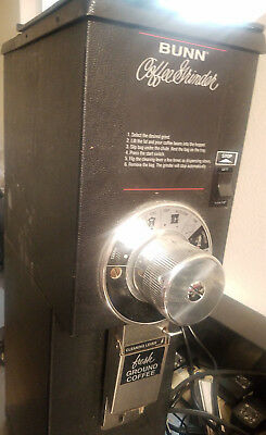 Bunn G2 HD Black Bulk Commercial 2 lb Coffee Grinder 22102.0000 READY TO USE!