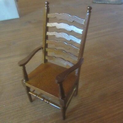 Dolls House Furniture 12th scale  Ladder Back Carver Chair  DF1200