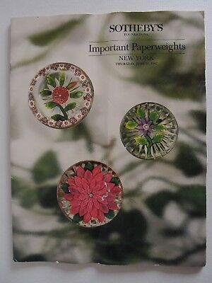 """Katalog """"Important Paperweights"""", Sotheby´s, New York, 25.6.1987"""