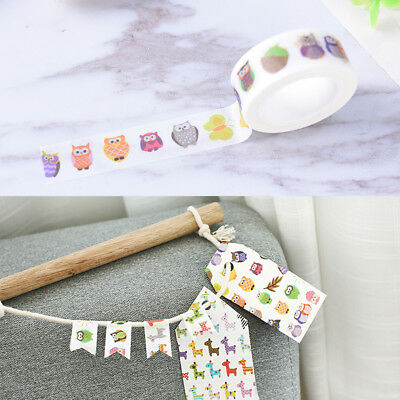 Ctue owl washi tape DIY decoration scrapbooking planner masking adhesive tape WL