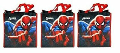 """Spiderman Non Woven Large Tote Bag x 3 (18"""" x 10.25"""" x 3.75"""") - NEW!"""