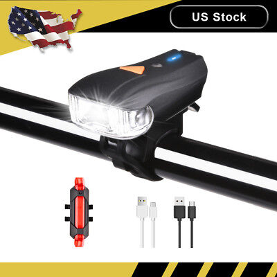 LED Rechargeable Bycicle Front Light Headlamp Headlight Bike Lamp Torch