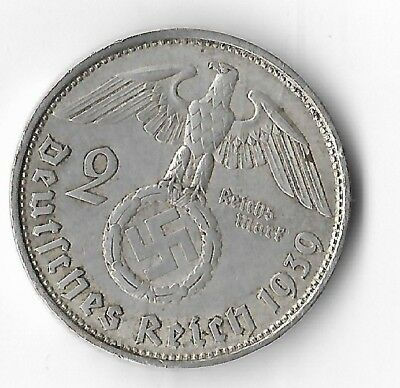 Rare WWII Germany 1939 SILVER German Eagle VIENNA Great War Collection Coin 269