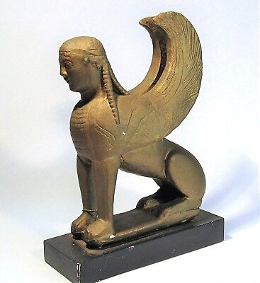Ancient Greek Winged Sphinx Of Naxos Museum Replica Sculpture Delphi Figurine