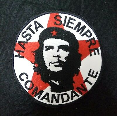 ★ Che Guevara ★ Hasta Siempre Comandante Embroidery Sew On Patch / High Quality