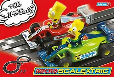 Micro Scalextric G1117 The Simpsons Grand Prix