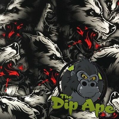 Bloody Wolf Pack Hydrographic Water Transfer Hydro Film Dip Ape