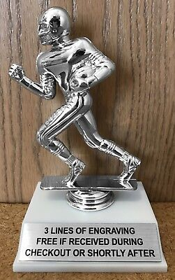 "6"" Silver Fantasy Football Trophy - Easy Assembly Required"