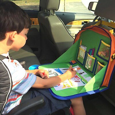 Kids Backseat Organizer Holds Crayons Markers an iPad Kindle or Other Tabl..