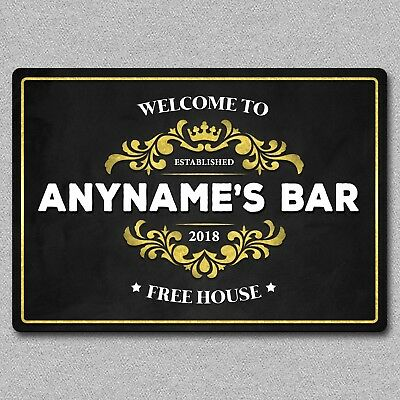 Personalised Metal Bar Pub Beer Wall Sign / Plaque Man Cave Gift