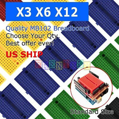 Lot 10x 6 Color Mini Breadboard SYB-170 170Tie-points Solderless Prototype Board
