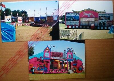 CIRCUS /CARNIVAL SIDE SHOWS-Color- Photographs-p(Set of 3)