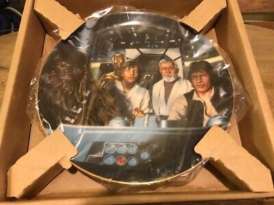 The Hamilton Collection 1st Edition Star Wars Collector Plate - Cockpit Crew