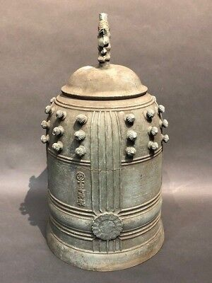 Japanese Antique Bronze Temple Bell