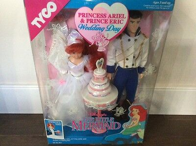 The Little Mermaid Princess Ariel And Prince Eric Wedding Day 1991 By Tyco RARE