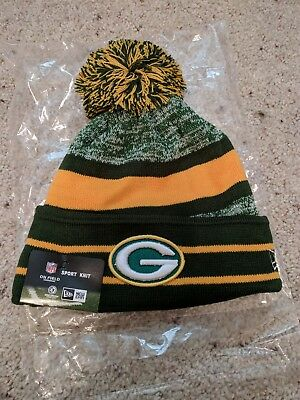 ... authentic green bay packers new era knit hat on field sideline beanie  adult osfa 2017 76afd 80b0d365aaad