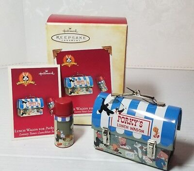Hallmark 2004 Looney Tunes-lunch Set ornaments - Lunch Wagon for Porky Pig  NICE