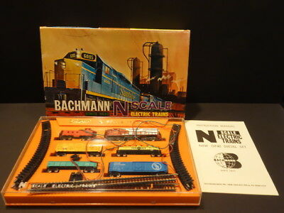 Bachmann Gp-40 Diesel 5 Cars Set Gauge N Never Been Used Mint & Boxed