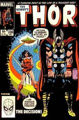Thor (1966 series) #336 in Very Fine minus condition. Marvel comics