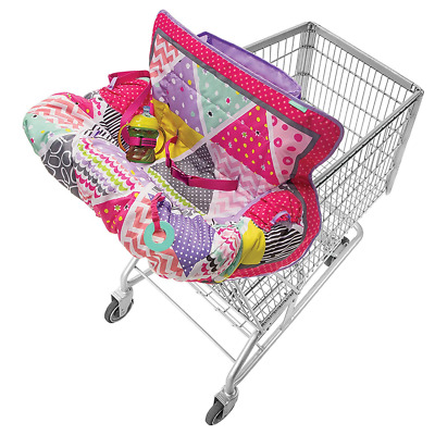 Infantino Compact 2-in-1 Shopping Cart Cover - Pink
