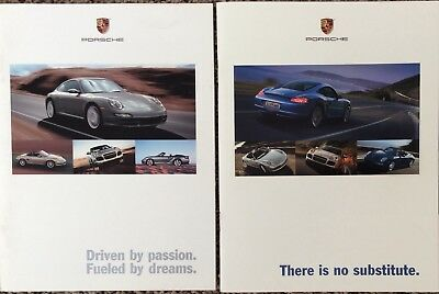 20 Piece Lot Of Porsche Sales Brochures, Catalogs And Posters