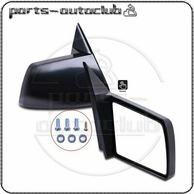 For 1988-1999 Chevy GMC Pickup Truck Manual Side Mirrors Pair Set Left + Right