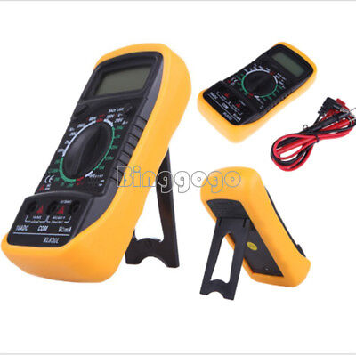 XL830L Digital LCD Multimeter Voltmeter Ammeter OHM AC DC VOLT Tester Checker F