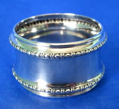 Antique Authentic Art Deco Sterling Silver Napkin Ring Hallmarked