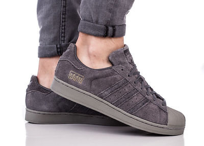 New ADIDAS Originals Superstar Suede Sneaker Mens gray all sizes