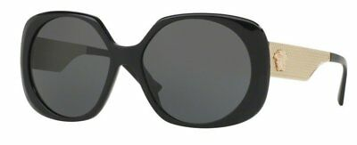 f4aff42e83da VERSACE VE4331A GB1 87 Black Gold Frame Grey 57mm Lens Sunglasses ...