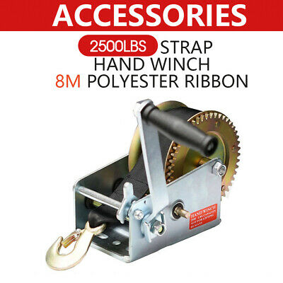 2-Speed Strap Hand winch For Boat, Trailer and 4WD 2500LBS/1136KGS