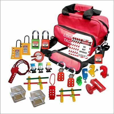 electrical lockout kit push button lockout tagout osha padlocks fuse MCB lock