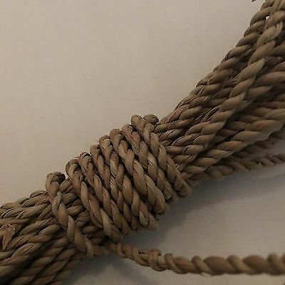 10m x 6mm Seagrass Twisted Cord *ALL NATURAL* Basket/Furniture Repair/Pets/Craft