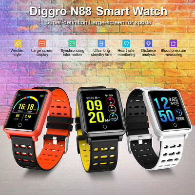 IP68 Smart Watch Blood Pressure Heart Rate Monitor Wristband BT Fitness Tracker