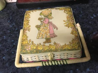 Vintage/retro Childs Sewing Basket - Pretty Holly Hobbie - Collectable  Buy Now