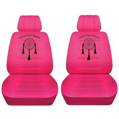 Car Seat Cover 2014 Mitsubishi Triton Front Hot Pink Dream Catcher Custom Design