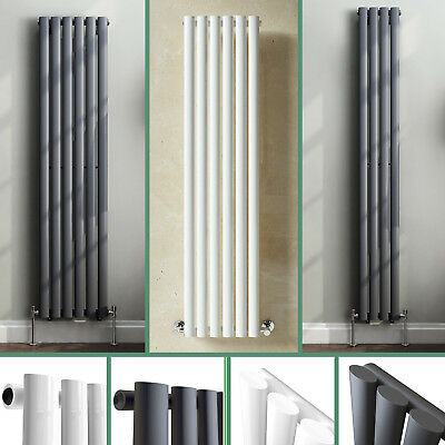 Vertical Oval Column Designer Modern Single Panel Rads Tall Upright Radiator