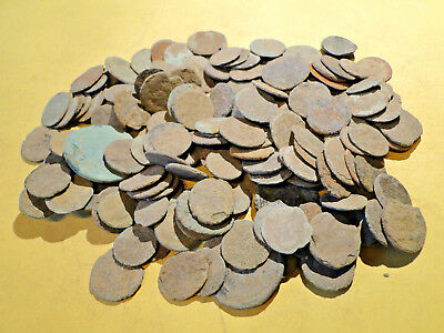 20 Uncleaned Low Quality Roman Bronze Coins.