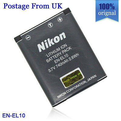 Genuine Original Nikon EN-EL10 Battery for Coolpix S3000 S4000 S225 S220 S210