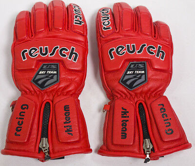 Reusch Men US Ski Team Leather Gloves Size S Red Style 61142 Thinsulate