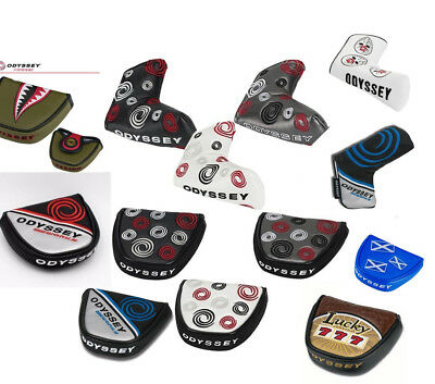 Odyssey Golf Swirl Mallet Blade Putter Headcover Covers Various Style Funky