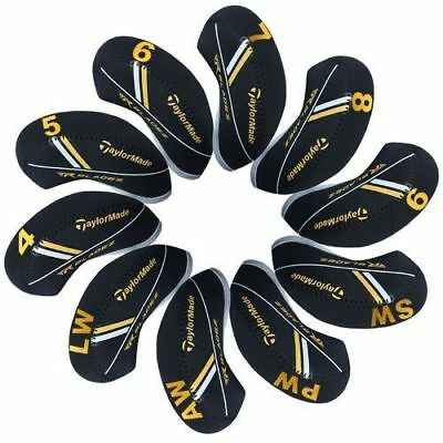 10X Black Neoprene Taylormade RBZ RocketBladez Golf Club Iron Covers HeadCovers