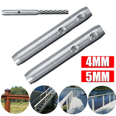 T316 Stainless Steel Tensioner Installation for Stair Cable Railing 4m / 5mm
